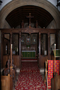 Altar and Rood Screen St. Lawrence Barlow